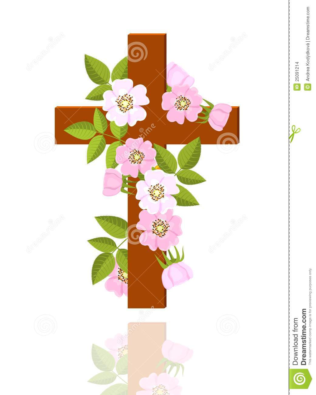 Cross with flowers clipart 1 » Clipart Station.