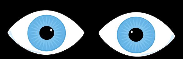 Crossed eyes clipart.