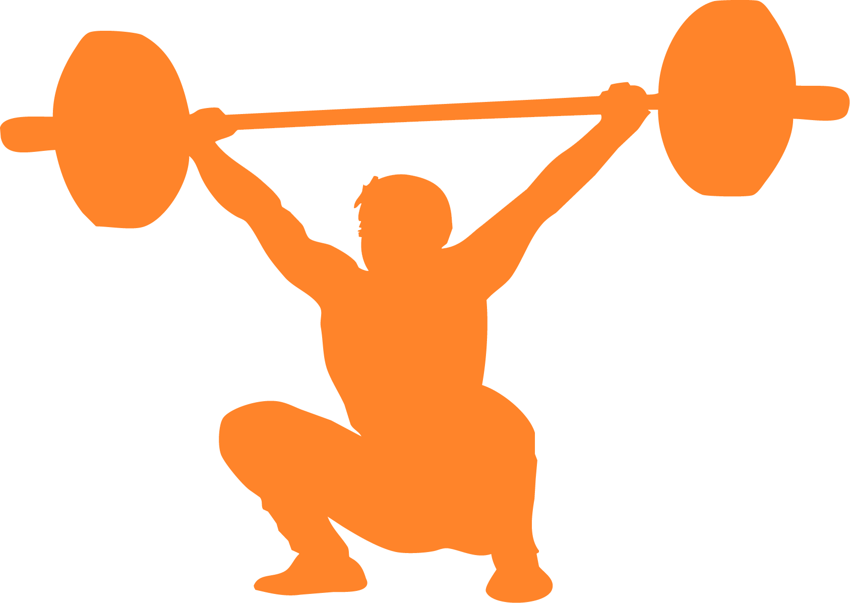 Olympic weightlifting CrossFit Exercise Clip art.