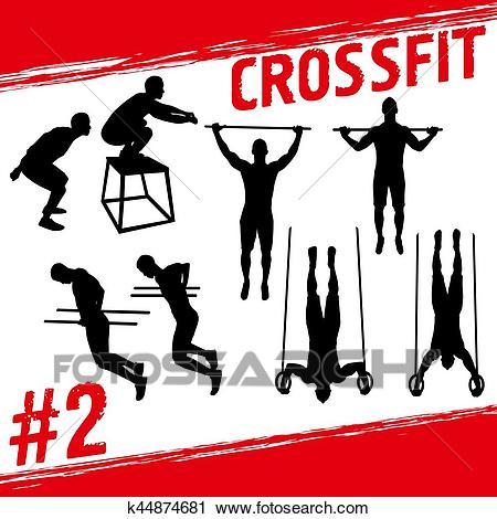 Crossfit concept Clipart.