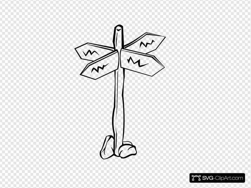 Black Crossroads Clip art, Icon and SVG.