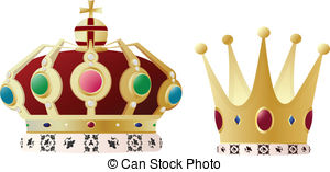 king and queen crowns together clipart #14