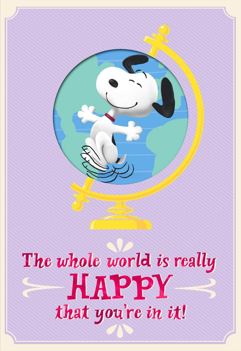 Peanuts® On Top of the World Mother's Day Card.