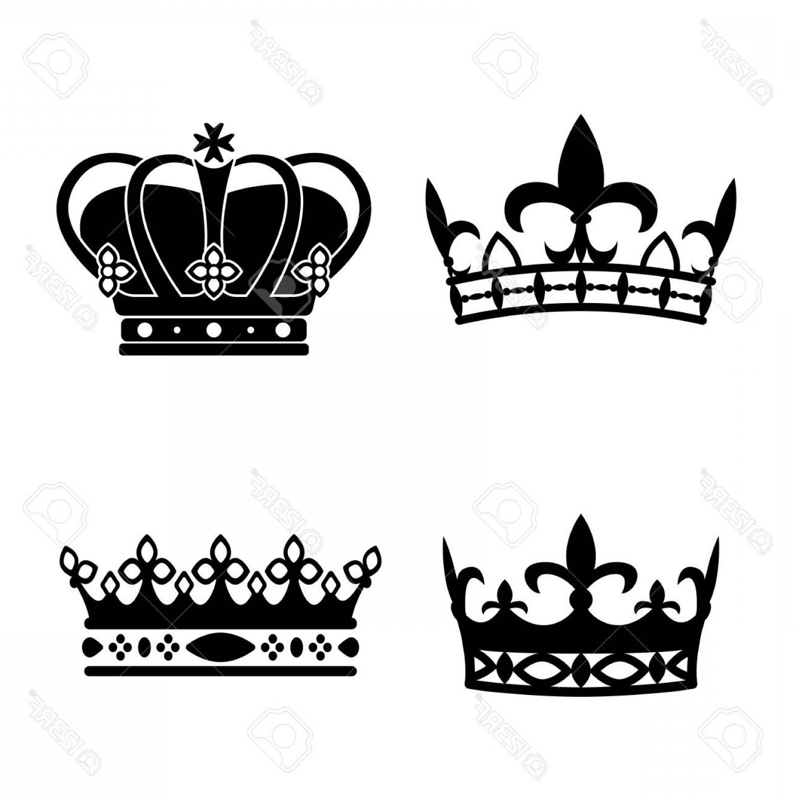 Crowns Tiaras Clipart Vector.