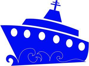 Cruise Ship Clipart Image.
