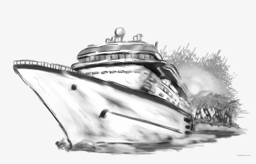 Free Cruise Boat Clip Art with No Background.
