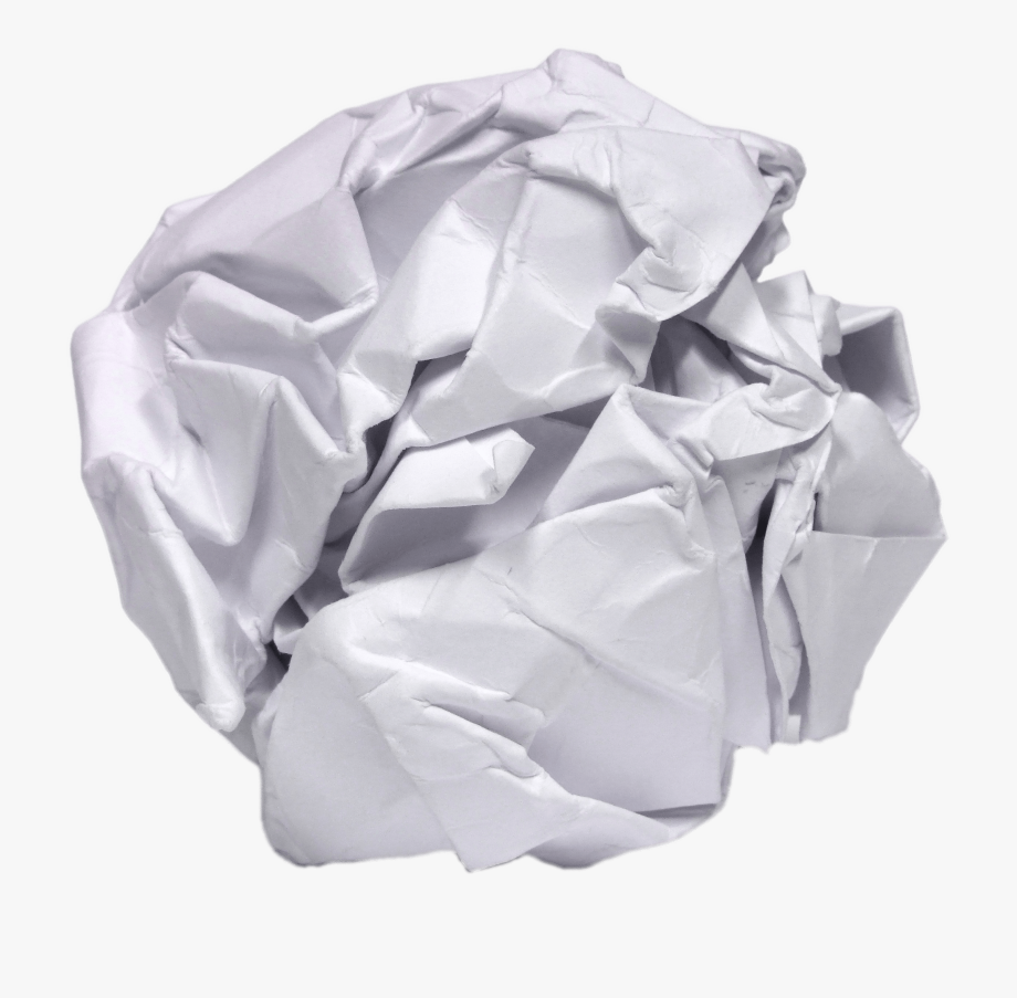 Crumpled Paper Ball.