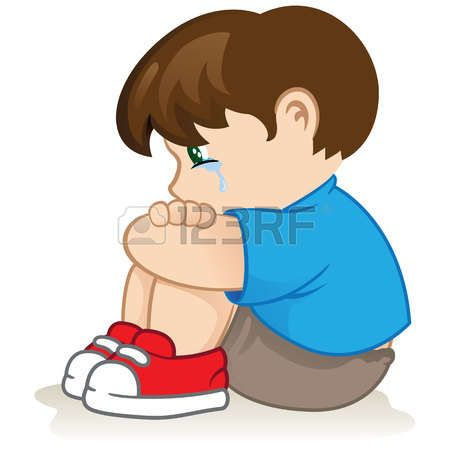 crying child: Illustration of a sad child, helpless, bullying. Ideal.