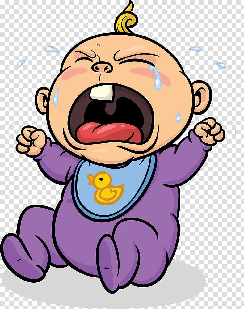 Baby crying illustration, Crying Infant , Child crying transparent.