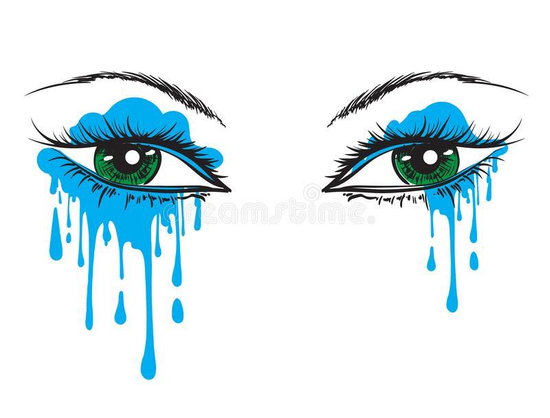 Crying Eyes Drawing Stock Illustrations.