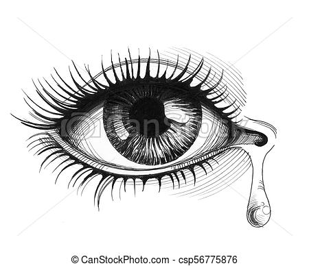 Crying eye.