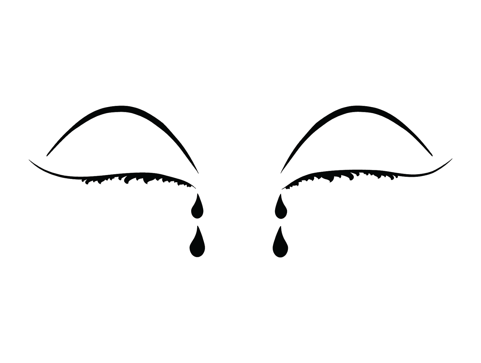 Vector Crying eyes Free PNG and Clipart.