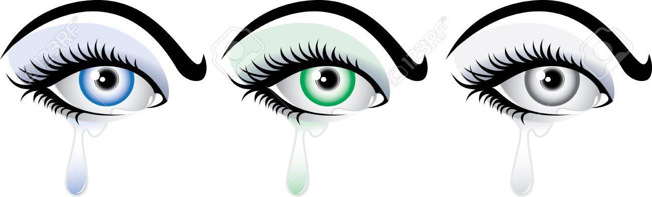 Crying Eyes Cliparts 8.