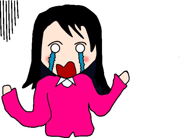 Animated Crying Girl.