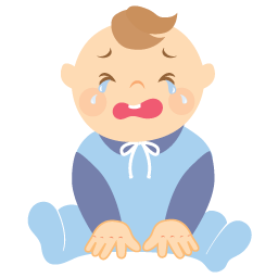 Baby crying Icon.
