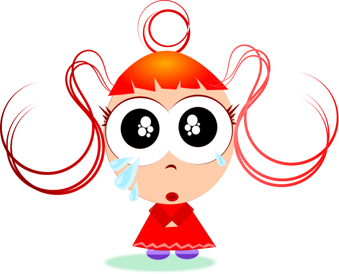 Clipart Crying Girl Transparent.