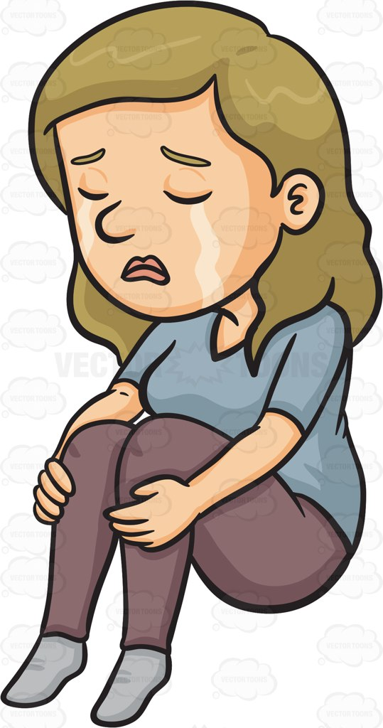Crying Lady Clipart.
