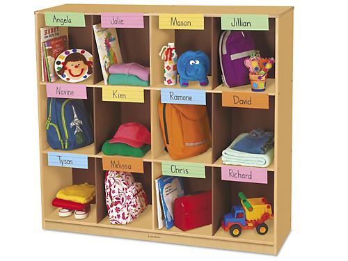 Classic Birch Big 12 Cubbies Storage Unit.