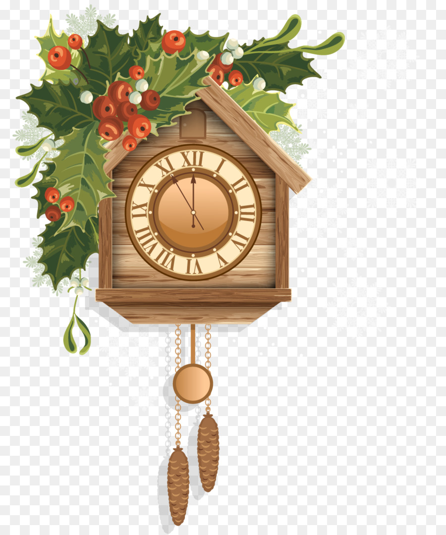 Cuckoo clock Christmas Clip art.