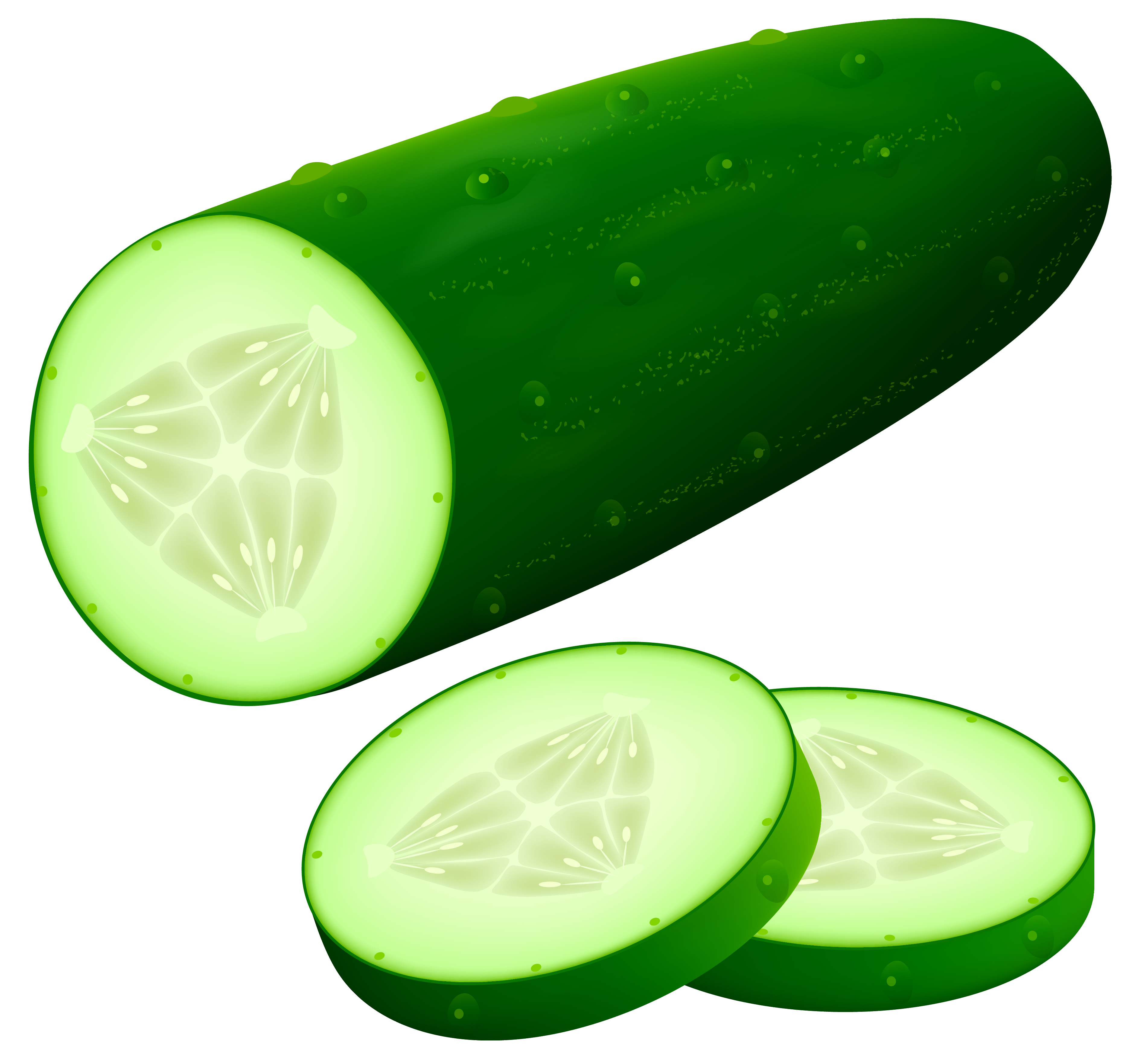 Cucumber PNG Clipart Image.
