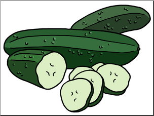 Clip Art: Cucumbers Color I abcteach.com.