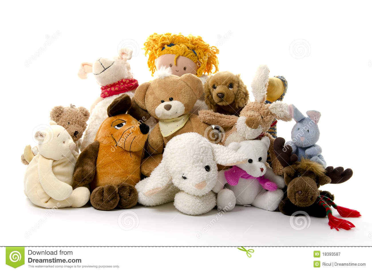 Group Of Stuffed Animals Clipart#2234564.