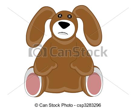 Boy With Stuffed Animal Clipart.