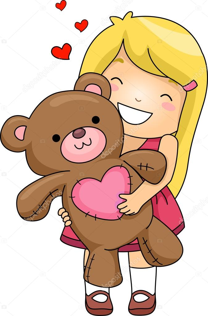clipart cuddle with stuffed animal - Clipground