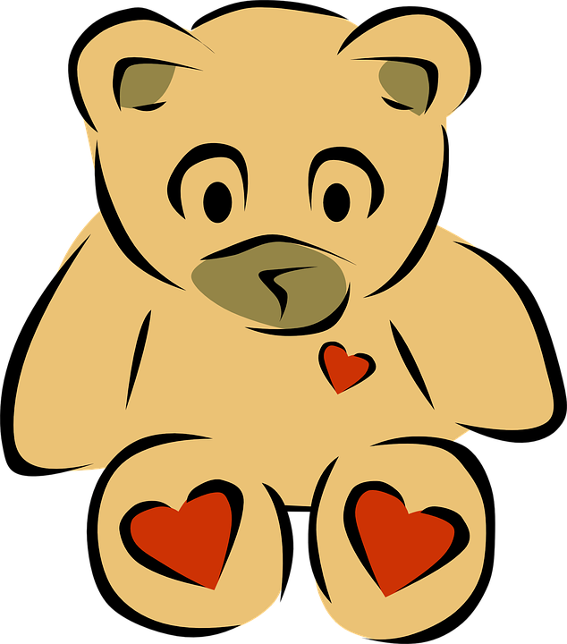 Free vector graphic: Teddy, Bear, Cuddle, Hearts, Toy.