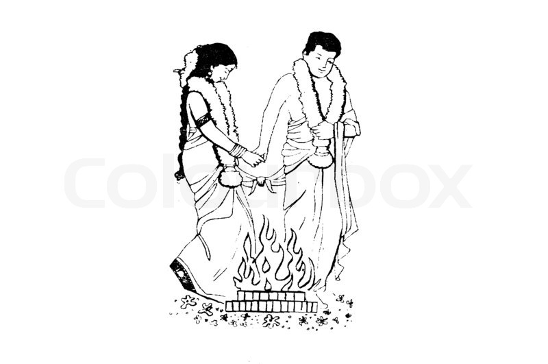 Tamil Marriage Clipart.