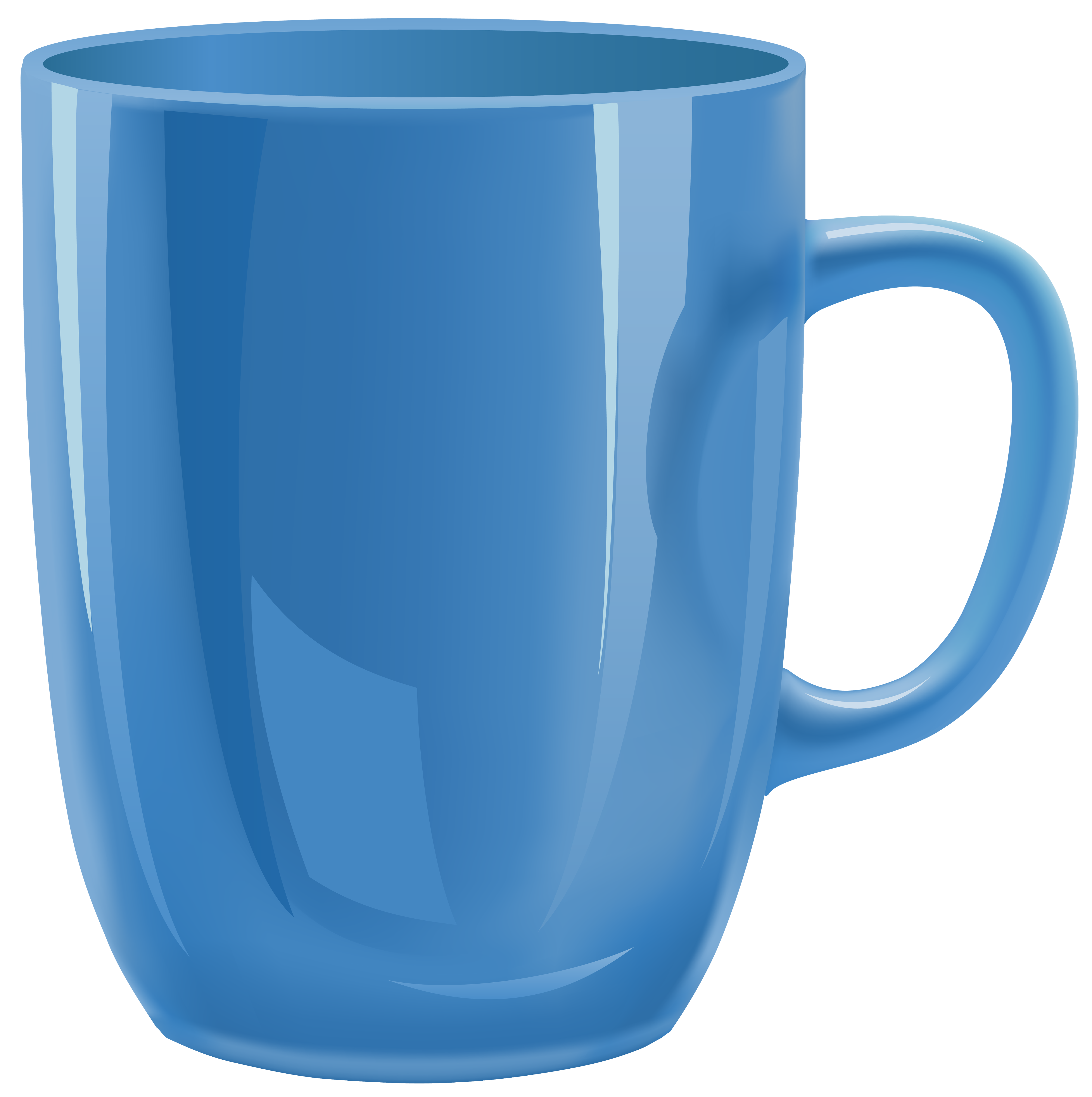 Blue Cup PNG Clipart.