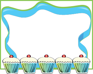 Cupcakes clipart border 2 » Clipart Station.