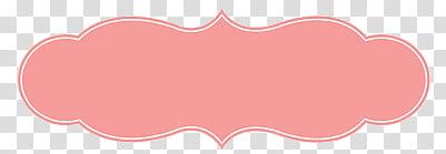Cupcake Little Frames, oval pink border transparent.