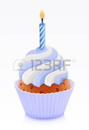 18,273 Cupcake With Candle Cliparts, Stock Vector And Royalty Free.
