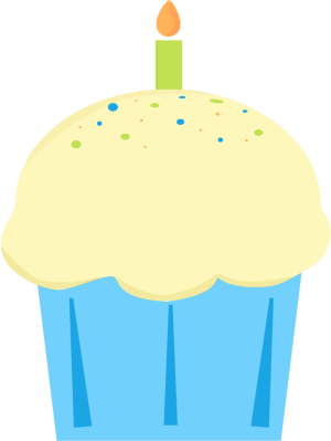 clipart cupcake with candle #19