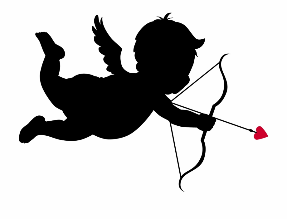 Cupid Silhouettes Png Clipart Picture.