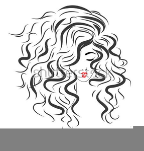 Lady With Curly Hair Clipart.
