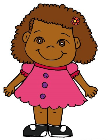 Girl with curly hair clipart 3 » Clipart Portal.