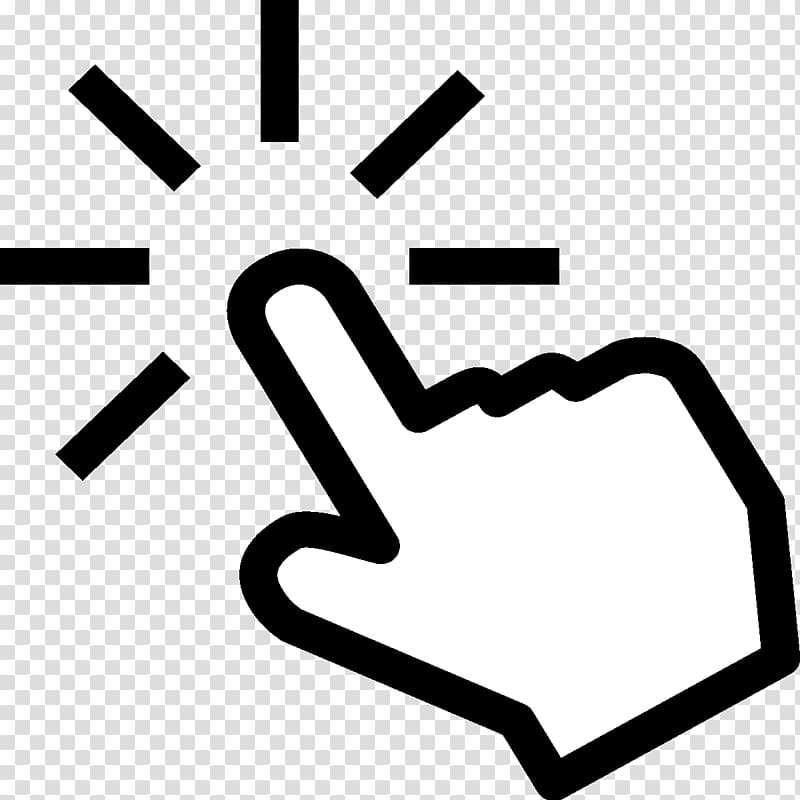 White pointing hand illustration, Computer mouse Pointer.