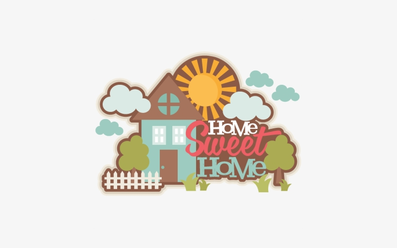 Home Sweet Home Title Svg Scrapbook Cut File Cute Clipart.