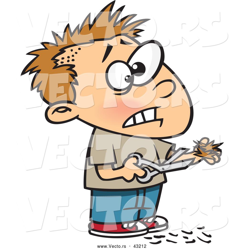 Showing post & media for Little boy hair cutting cartoon.