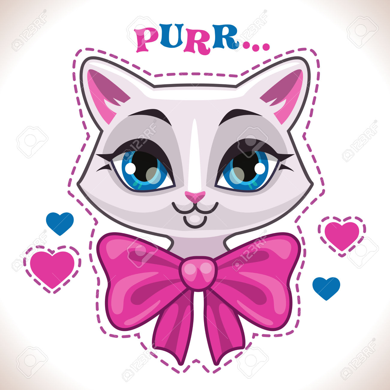 57,862 Cute Cat Stock Vector Illustration And Royalty Free Cute.