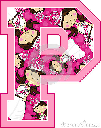 P Is For Princess Stock Vector.