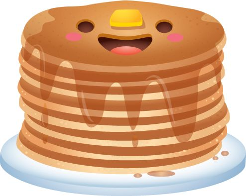 Clipart Cute Pancakes With Eyes Clipground