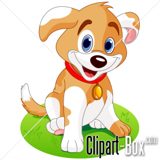CLIPART CUTE PUPPY.