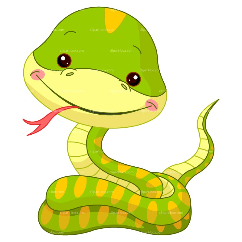 Cartoon Snake Clipart.