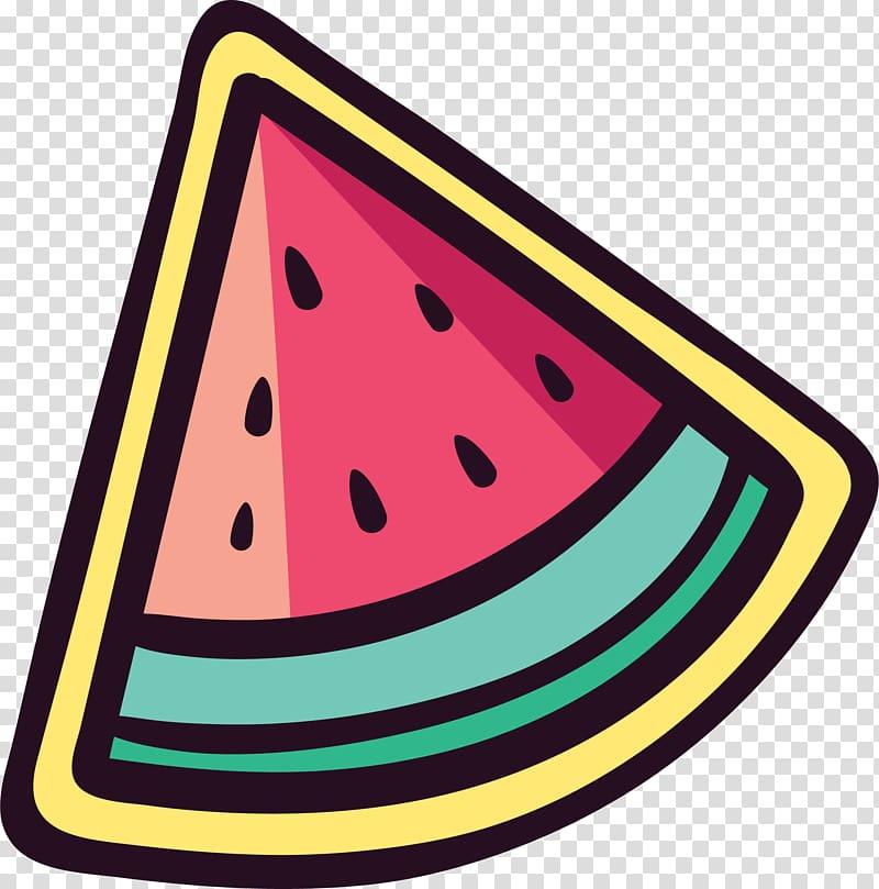 Watermelon Sticker , Cute watermelon sticker transparent.