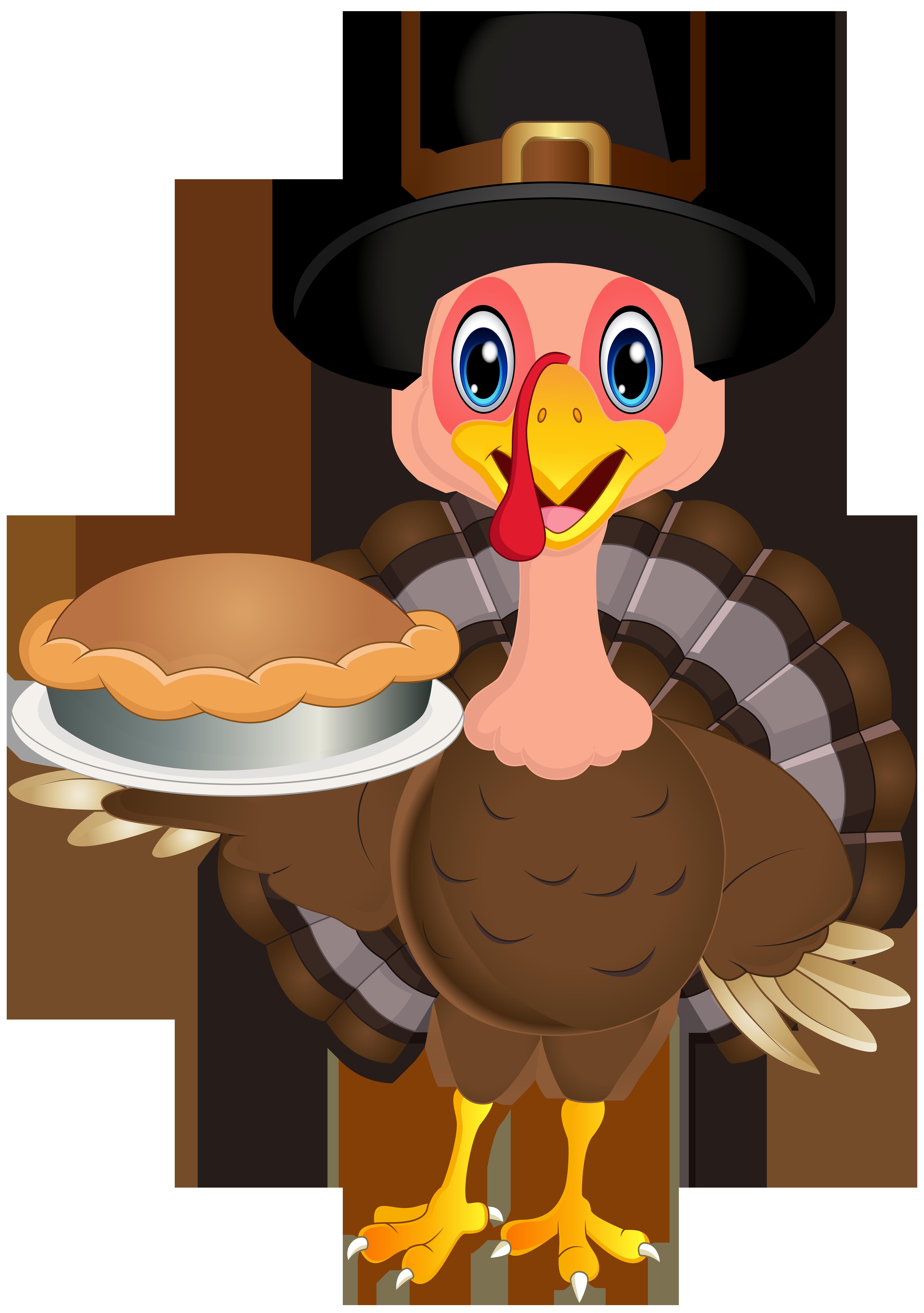 Thanksgiving Cute Turkey PNG Clip Art Image.