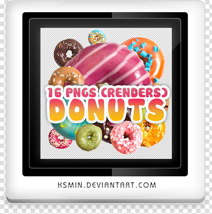 Cutouts Render Donuts, S Crenders Donuts poster transparent.