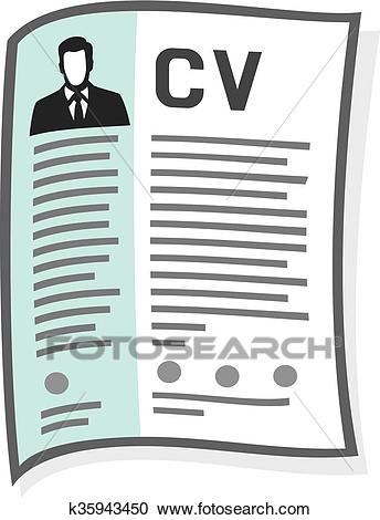 Resume and cv icon Clipart.